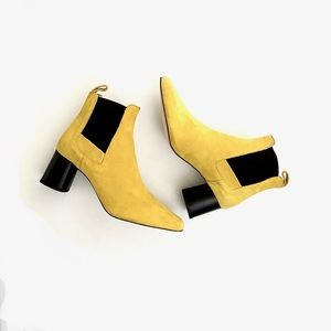 Zara Collection | Yellow Suede Booties NWOT NWOB